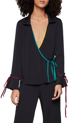 BCBGeneration Long-Sleeve Wrap Top