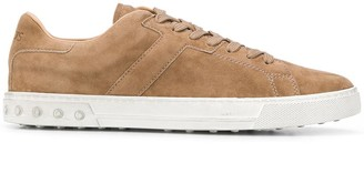 Tod's Suede Lace-Up Sneakers