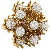 Lele Sadoughi Dandelion Fireball Crystal Cocktail Ring