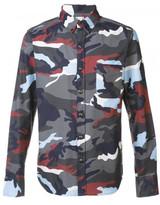 Moncler Gamme Bleu camouflage print shirt