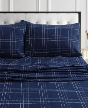 Tribeca Living Oxford Plaid Flannel Extra Deep Pocket Twin Xl Sheet Set Bedding