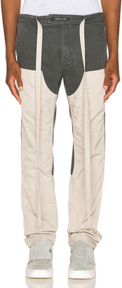 Fear Of God Nylon Canvas Double Front Work Pants in Seaweed & Bone | FWRD