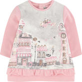 Mayoral Sweatshirt dress with a print