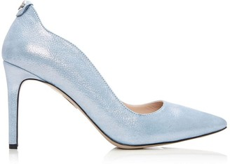 Moda In Pelle Cerina Light Blue Metallic Leather