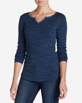 Eddie Bauer Women's Favorite Notch Neck Long-Sleeve T-Shirt