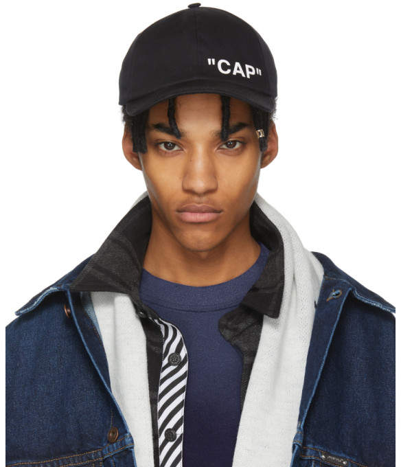 Off-White Off White Black Quote Cap
