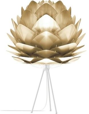 Umage UMAGE - Medium Brushed Brass Silvia White Tripod Table Lamp - Gold/White