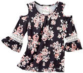Jenna & Jessie Floral Cold Shoulder Shirt (Little Girls)