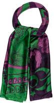 Saint Laurent Silk Floral Scarf w/ Tags
