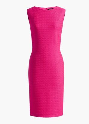 St. John Texture Knit Bateau Neck Dress