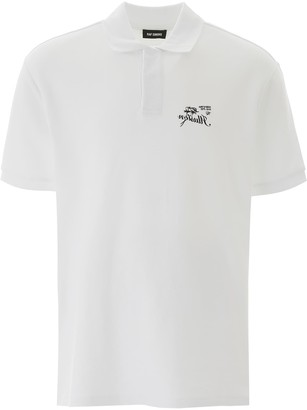 Raf Simons POLO SHIRT WITH EMBROIDERY L White Cotton