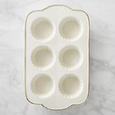 Williams-Sonoma Williams Sonoma Fluted Gold-Rimmed Ceramic Muffin Pan