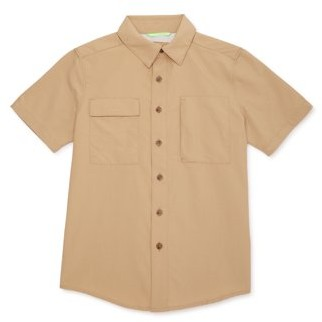 Wonder Nation Boys Outdoor Button Down Shirt with UPF 50+, Sizes 4-18
