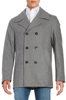 Calvin Klein Wool-Blend Double Breasted Coat