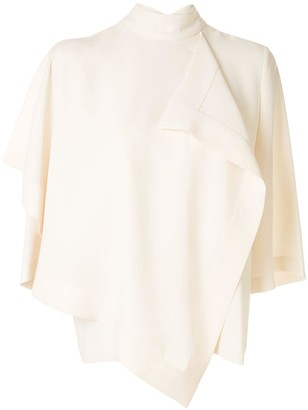 AKIRA NAKA draped design blouse