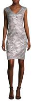 Theia Jacquard Cap Sleeve Sheath Dress