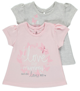 George Mummy and Daddy Love Me 2 Pack Tops