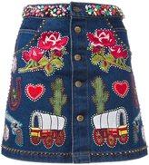 Manish Arora embellished A-line skirt