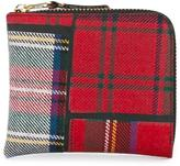 Comme des Garcons tartan patchwork purse