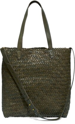 Madewell The Medium Transport Tote: Woven Leather Edition