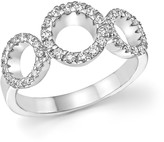 Roberto Coin 18K White Gold Triple Circle Diamond Ring