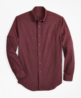 Brooks Brothers Milano Fit Brushed Flannel Sport Shirt