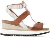 Mjus Tarde Metallic Leather Wedge Heel Sandals