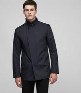 Reiss Reiss Bandit - Funnel Neck Jacket In Black, Mens