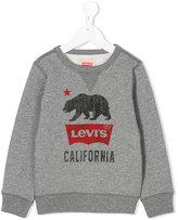 Levi's Kids - printed sweatshirt - kids - Cotton/Polyester - 4 yrs