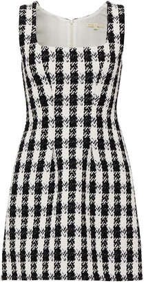 Maje Rocky Checked Cotton-blend Tweed Mini Dress