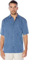 Cubavera Big & Tall Short Sleeve Floral Jacquard Pocket Shirt
