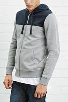 Forever 21 Quilted-Panel Hoodie