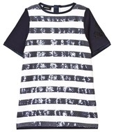 Diesel Navy and White Sequin Jersey Dress