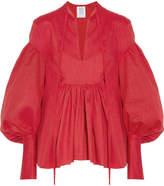 Rosie Assoulin Swash Buckler Oversized Cotton-poplin Top