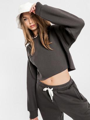 Nude Lucy Carter Classic Crop Sweater in Coal