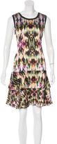 ICB Abstract Print Silk Dress w/ Tags