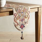 Pier 1 Imports Indian Paisley Embroidered Table Runner - 55""