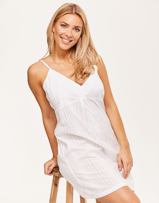 Figleaves Cotton Stripe Pintuck Chemise
