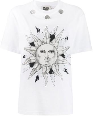 Fausto Puglisi coin embellishment T-shirt