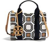 Tory Burch Tory Mini Tote Bag in Ivory Octagon Square Canvas