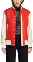 Rag & Bone Edith Varsity Jacket – Red/ Ivory