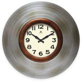 Infinity Instruments 22-Inch Mid-Century Clock with Pewter Finish
