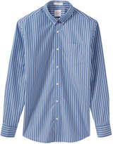 Joe Fresh Men's Pinstripe Button Down Shirt, Blue (Size L)
