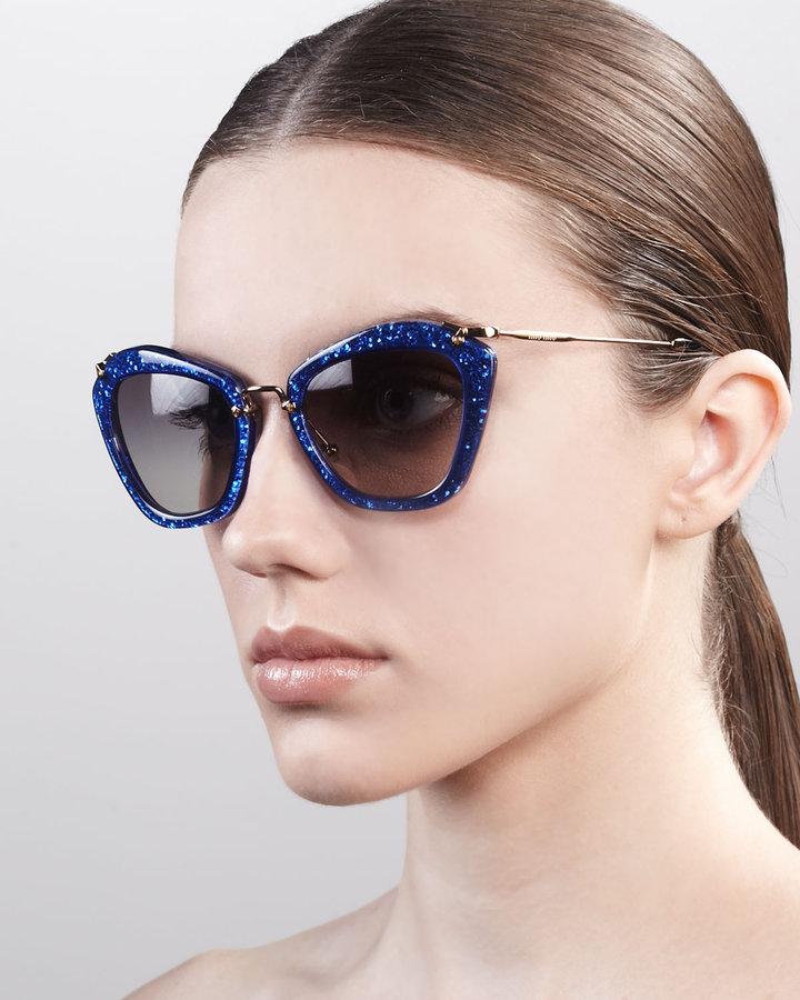 Thumbnail for your product : Miu Miu Extreme Catwalk Sunglasses, Royal Blue