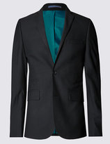 Marks And Spencer Black Superslim Suit Including Waistcoat