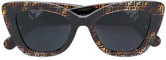 Fendi thick frame monogram sunglasses