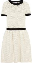 Open-knit cotton-blend dress