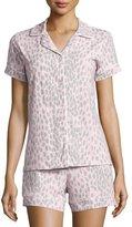 BedHead Lynx-Print Short Pajama Set, Pink/Gray