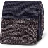 Dunhill 6cm Striped Knitted Mulberry Silk Tie