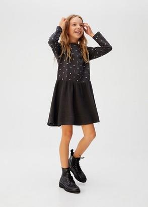 MANGO Contrasting textured dress